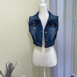Highway Jeans Cropped Vest